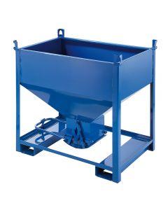 Container mit unterer Ausschüttöffnung Stahlblech 600 l