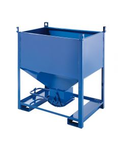 Container mit unterer Ausschüttöffnung Stahlblech 1000 l