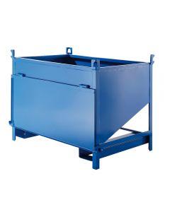Container mit seitlicher Ausschüttöffnung Stahlblech 800 l