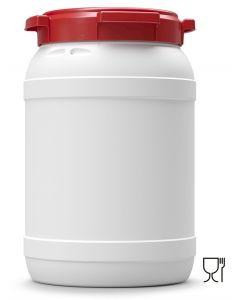Weithalsfass 20 Liter aus Kunststoff mit Schraubdeckel UN 1H2/X27/S/...