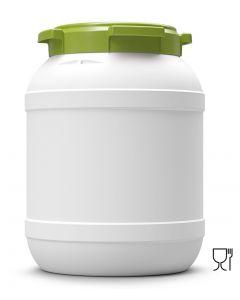 Weithalsfass 26 Liter aus biobasierenden Kunststoff (HDPE) mit Schraubdeckel, UN 1H2/X33/S/...
