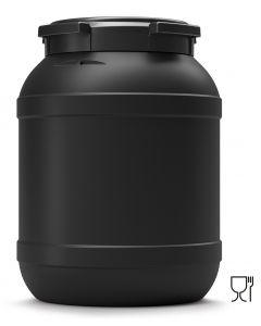 Weithalsfass 26 Liter aus Kunststoff mit Schraubdeckel UN 1H2/X33/S, UV-beständig