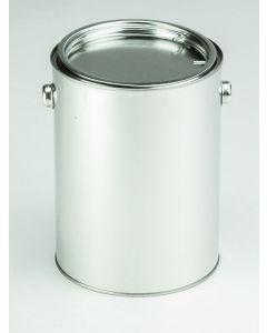 2,5 Liter Patentdeckeleimer Weißblech, blank, Deckel, Bügel