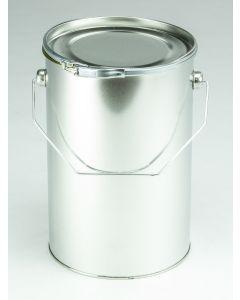 4,5 Liter Eindrückdeckeleimer, Weißblech, blank
