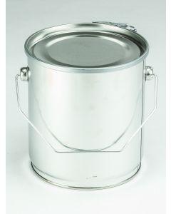 3 Liter Eindrückdeckeleimer, Weißblech, blank Deckel mit PVC-Dichtung und Spannring