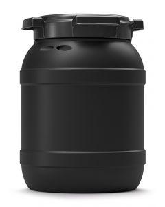 Weithalsfass 6 Liter aus Kunststoff mit Schraubdeckel UN 1H2/X20/S, leitfähig