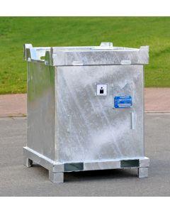 Sondermüllbehälter ASF 1000 C-2 in verzinkter Ausführung