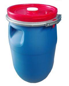 Deckelfass 30 Liter aus Kunststoff, flüssigkeitsdicht Farbe: blau