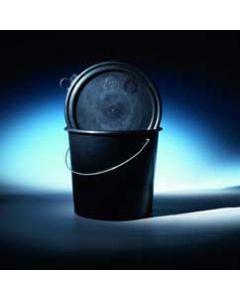 Druckdeckeleimer 11 Liter aus Kunststoff (PP), rund, schwarz, inkl. Deckel elektrisch ableitfähig, mit Metallbügel, UN 1H2/Y12/S/...