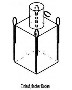 Big Bag 90 x 90 x 110 cm, beschichtet, mit Einfüllstutzen