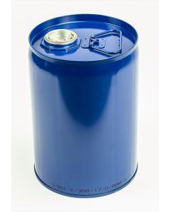 Enghals-Kombinations-Behälter 12 Liter außen Stahlblech, Farbe: blau