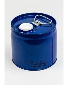 Enghals-Kombinations-Behälter 6 Liter außen Stahlblech, Farbe: blau
