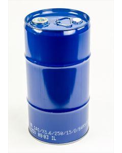 Flachkanne 30 Liter aus Stahlblech innen lackiert R78433, außen blau RAL 5010