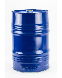 Garagenfass 60 l aus Stahlblech innen  lackiert/ außen blau lackiert
