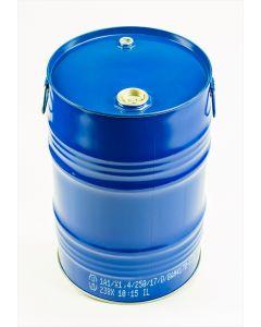 Garagenfass 60 l aus Stahlblech innen lackiert R78433, außen blau RAL 5010