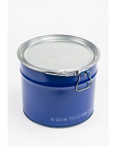 Hobbock 20 Liter aus Stahlblech innen lackiert, außen blau RAL 5010