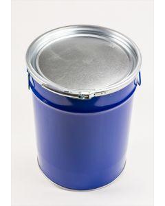 Hobbock 50 Liter aus Stahlblech innen lackiert, außen blau RAL 5010