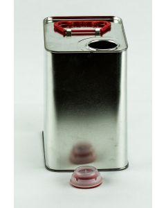 3 Liter UN Kanister, Weißblech, blank, Kunststoffverschluß HZ 402