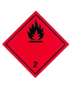 Gefahrzettel  Klasse 2.1 / PE-Haftfolie Entzündbare Gase