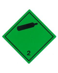 Gefahrzettel Klasse 2.2 / PE-Haftfolie Nicht entzündbare, nicht giftige Gase