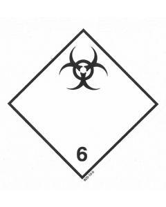 Gefahrzettel Klasse 6.2 / selbstklebendes Papier