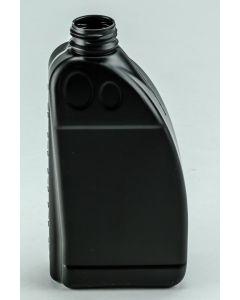 Kunststoff-Flasche 1000 ml schwarz, Typ Hurrycan speziell für Mineralölprodukte (ohne Org.-Verschluss HZ 36)