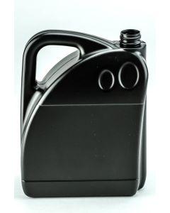 Kunststoff-Flasche 5000 ml schwarz, Typ Hurrycan speziell für Mineralölprodukte (ohne Org.-Verschluss KS38 schwarz)