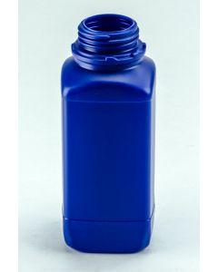 Kunststoff-Flasche 1000 ml, blau Weithals (ohne Org.-Verschluss DIN 54 W)