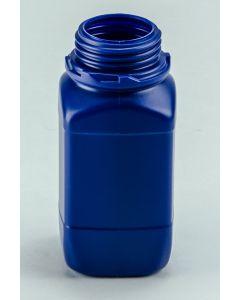Kunststoff-Flasche 500 ml, blau Weithals (ohne Org.-Verschluss DIN 54 W)