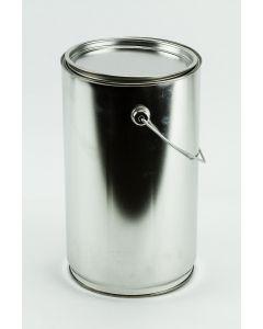 5 Liter Patentdeckeleimer Weißblech, blank, Deckel, Bügel