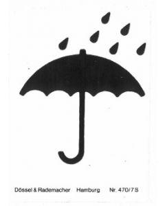 Markierungszeichen Form 470 selbstklebendes Papier, Zeichen C (Schirm)