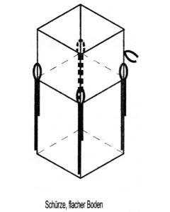 Big Bag 90 x 90 x 110 cm, beschichtet, mit Asbest-Aufdruck