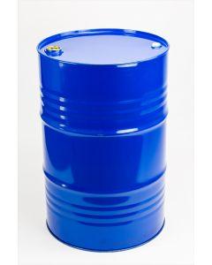 Sickenspundfass 216,5 Liter aus Stahlblech innen roh, außen blau lackiert RAL 5010