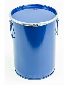 Hobbock 12 Liter aus Stahlblech rund, mit Deckel und Spannring