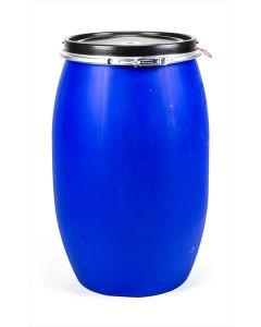 Standarddeckelfass 120 l aus Kunststoff Farbe: blau