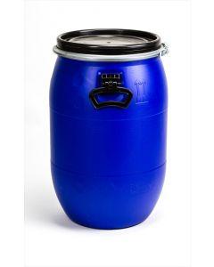 Standarddeckelfass 60 l aus Kunststoff Farbe: blau