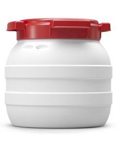 Weithalsfass 3,6 Liter aus Kunststoff mit Schraubdeckel UN 1H2/X12/S/...