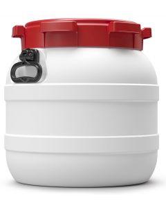 Weithalsfass 42 Liter aus Kunststoff mit Schraubdeckel und Handgriffen UN 1H2/X51/S/...