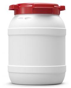 Weithalsfass 6,4 Liter aus Kunststoff mit Schraubdeckel UN 1H2/X20/S/...